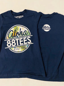 WOMENS ALOHA 88TEES PINEAPPLE CIRCLE TEE