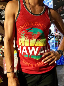 MENS SUNSET IN HAWAII SINCE 1988 TANK TOP