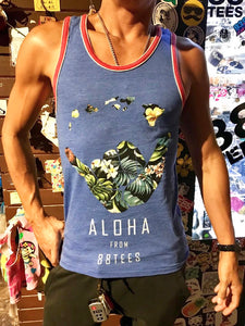 MENS HANGLOOSE FLORAL SILHOUETTE TANK TOP