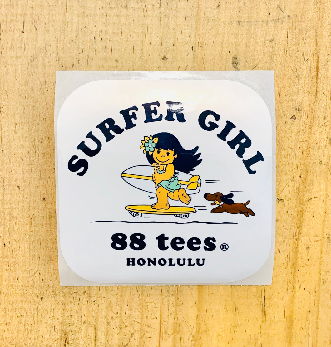 SURFER GIRL & BOY STICKER