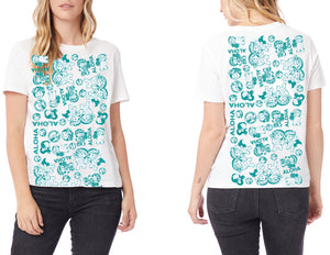 WOMENS ALOHA FROM YAYA & KUKU TEE