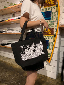 YAYA AND OHANA ZIPPER TOTE BAG