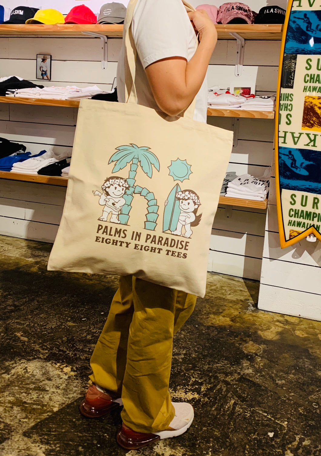 PALMS IN PARADISE TOTE BAG