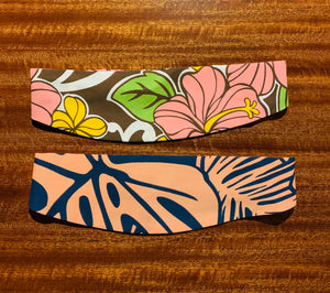 MONSTERA & HIBISCUS FABRIC HEADBAND