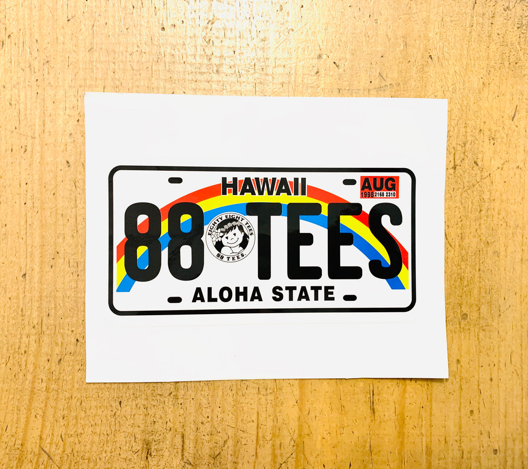 ALOHA STATE LICENSE PLATE STICKER (LARGE)