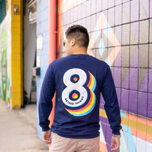 Load image into Gallery viewer, UNISEX RAINBOW EIGHT LONGSLEEVE TEE
