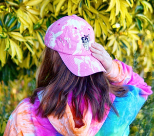 UNISEX EMBROIDERED TIE DYE BASEBALL CAP