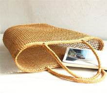 Load image into Gallery viewer, Seagrass Straw Woven Tote