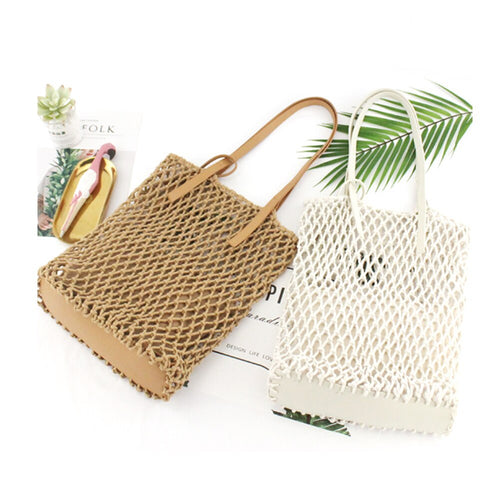 Woven Cotton Rope Bag