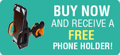 Receive free phone holder