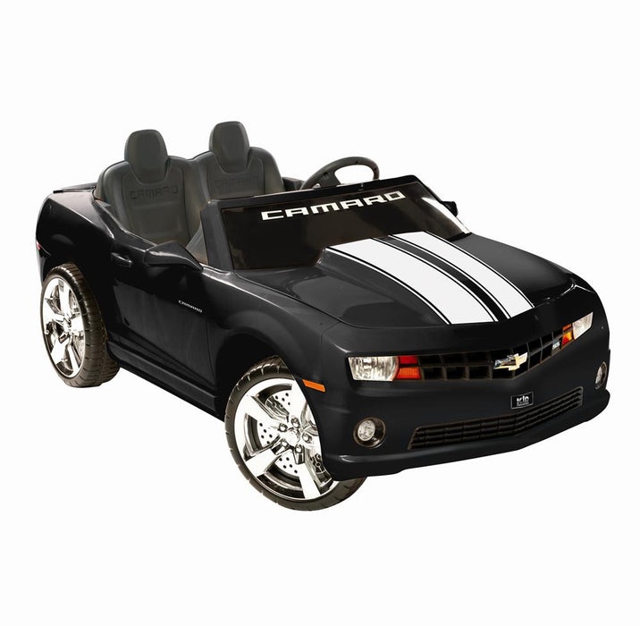 NPL Chevrolet Racing Camaro 12v Electric Ride-on Toy Black l Watt Fleet