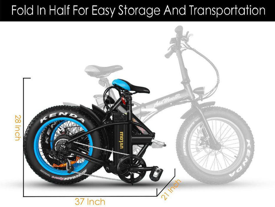 Addmotor Motan M150 Fat Tire 500W Folding Electric Bike l Watt Fleet