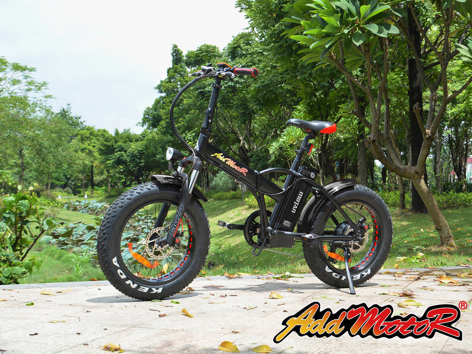 Addmotor Motan M150 P7 750W Folding Fat Tire Black Live eBike l Watt Fleet