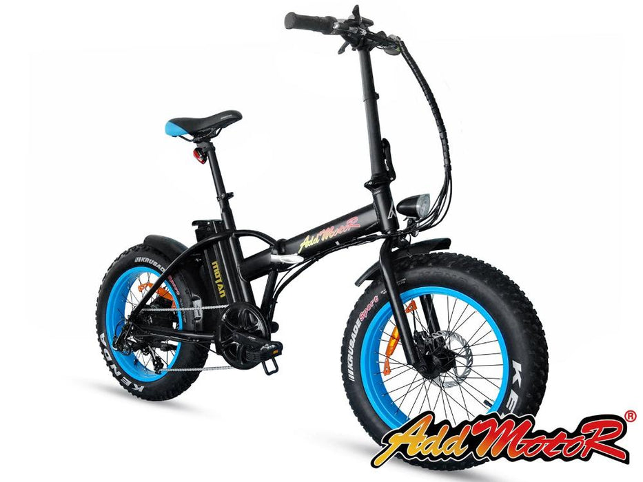 Addmotor Motan M150 Folding Fat Tire 500W Electric Bike Blue l Watt Fleet