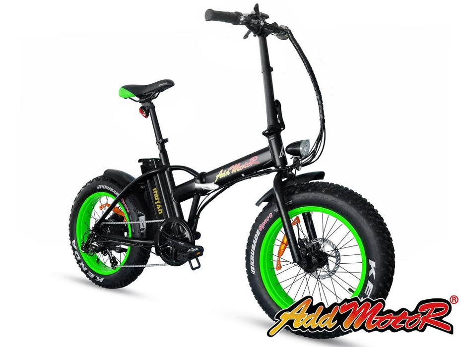 Addmotor Motan M150 Folding Fat Tire 500W Electric Bike Green l Watt Fleet