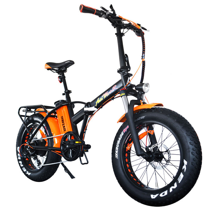 Addmotor Motan M150 P7 750W Folding Fat Tire Orange eBike l Watt Fleet