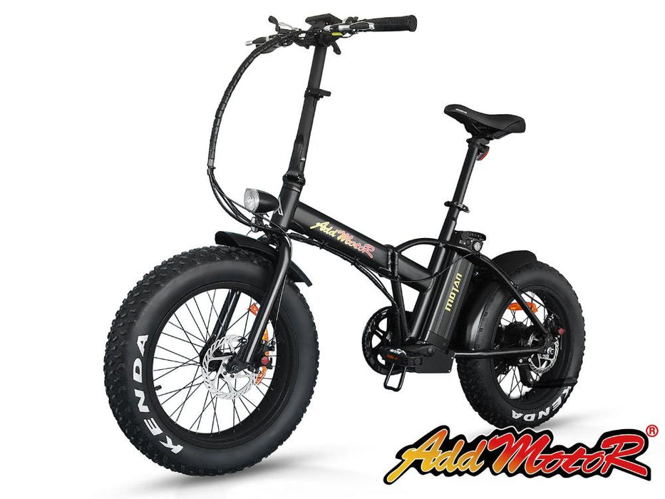 Addmotor Motan M150 Folding Fat Tire 500W Electric Bike Black l Watt Fleet