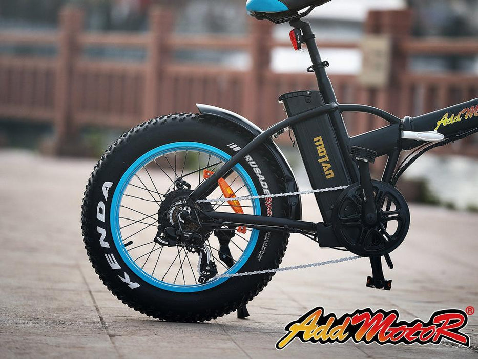 Addmotor Motan M150 Fat Tire 500W Folding Electric Bike Rear Wheel l Watt Fleet