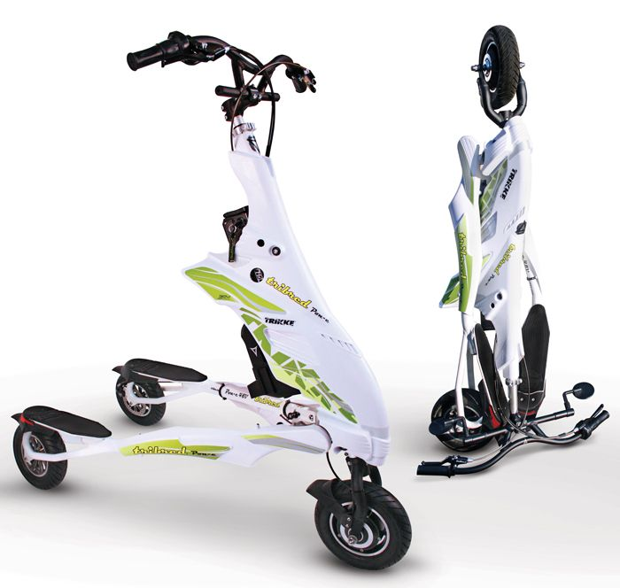 Electric Trikke Pon-e eTrike Folded l Watt Fleet
