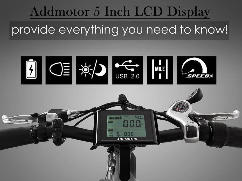 Addmotor Motan M150 Fat Tire 500W Folding Electric Bike LCD l Watt Fleet