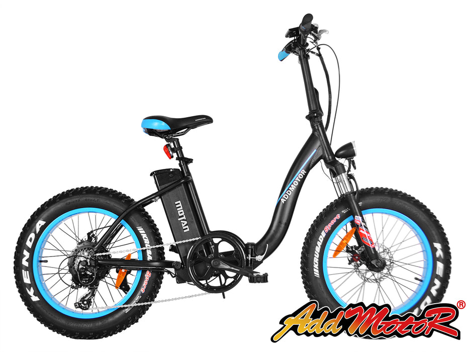 Addmotor Motan M140 Folding Electric Bike Blue l Watt Fleet