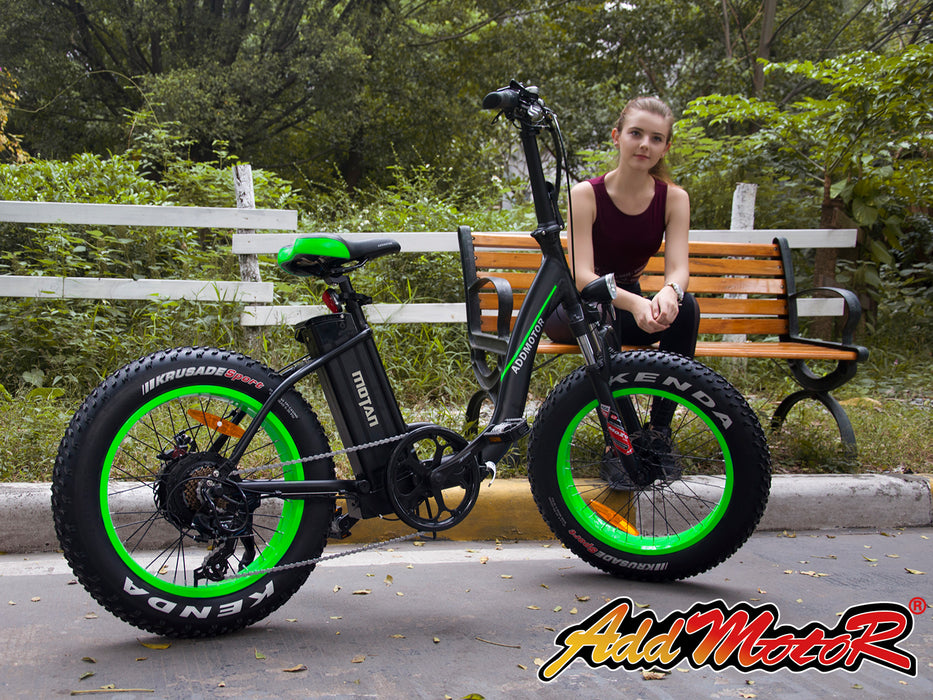 Addmotor Motan M140 Folding Electric Bike Green l Watt Fleet