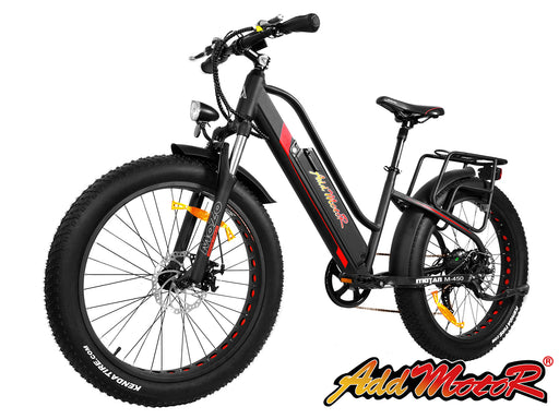 Addmotor Motan M450 Suspension Electric Bike Black l Watt Fleet