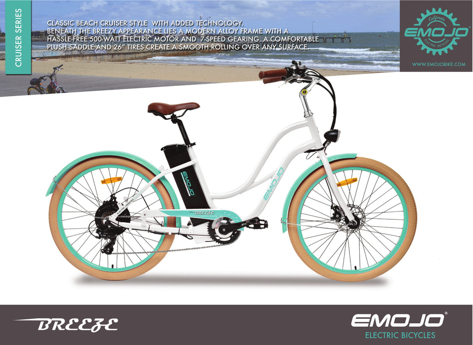 Emojo Breeze Beach Cruiser eBike Description l Watt Fleet