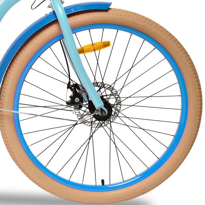 Emojo Breeze Beach Cruiser eBike Front Tire l Watt Fleet