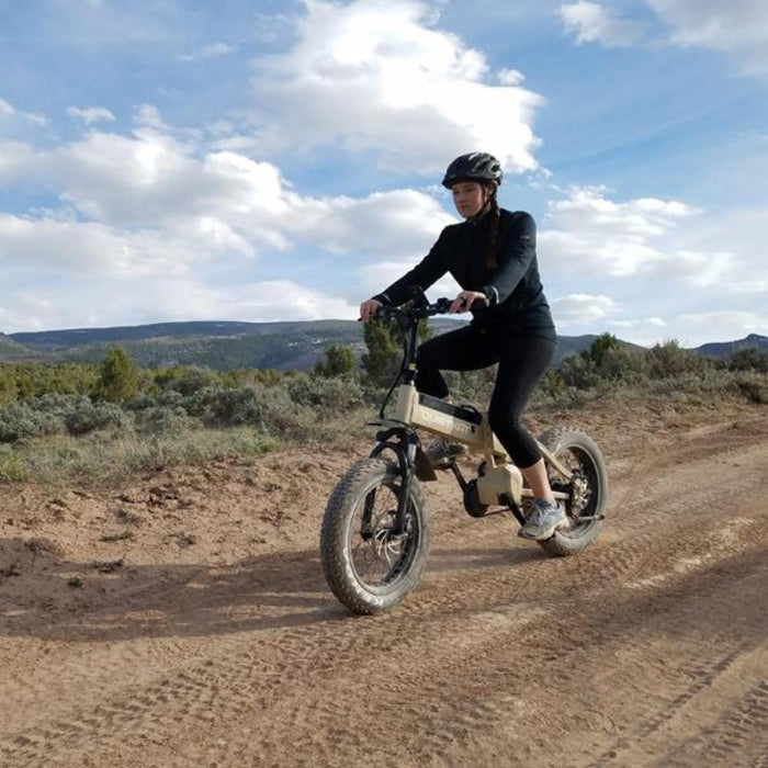 QuietKat Bandit Folding eBike On Dirt Road l Watt Fleet
