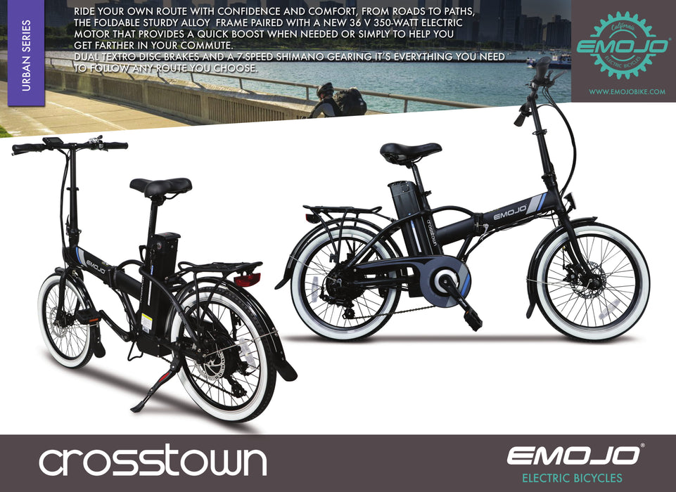 Emojo Crosstown Folding eBike Description l Watt Fleet