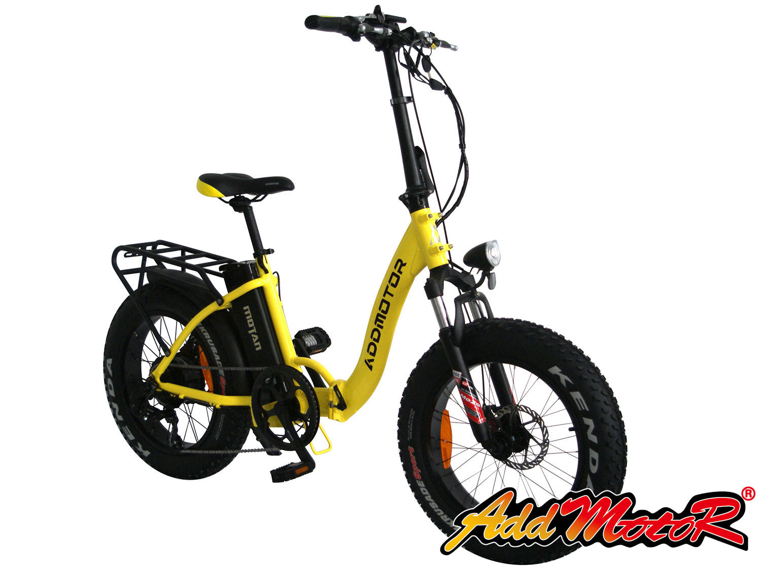 Addmotor Motan M140 Folding Electric Bike Yellow l Watt Fleet