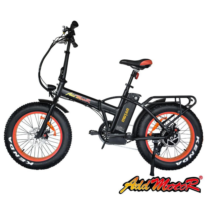 Addmotor Motan M150 Folding Fat Tire 500W Electric Bike Orange l Watt Fleet