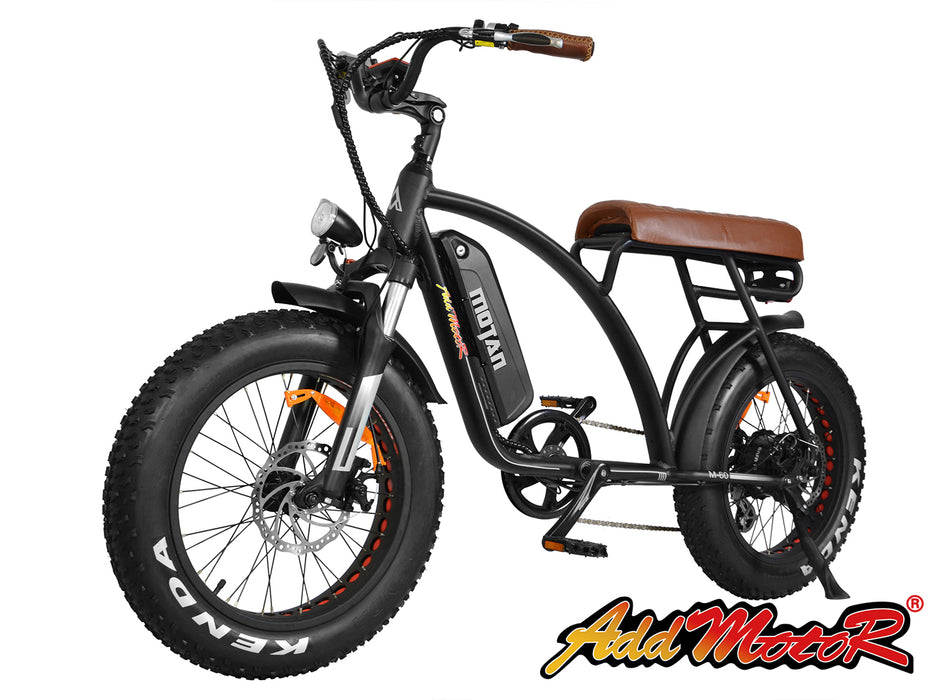 Addmotor Motan M60 Retro Cruiser eBike Black l Watt Fleet