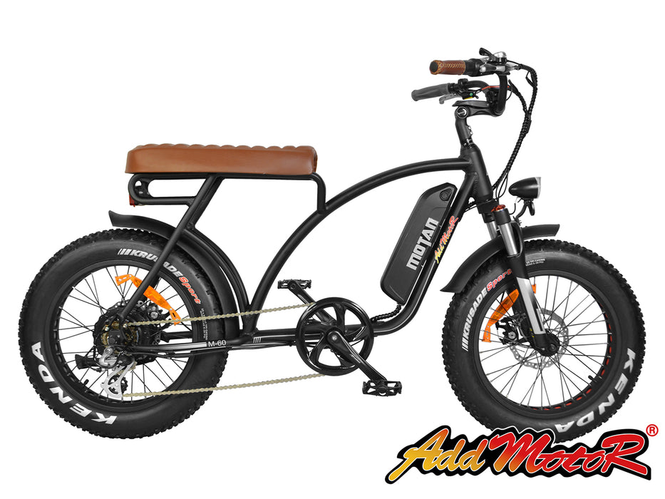 Addmotor Motan M60 Retro Cruiser eBike Black Side l Watt Fleet