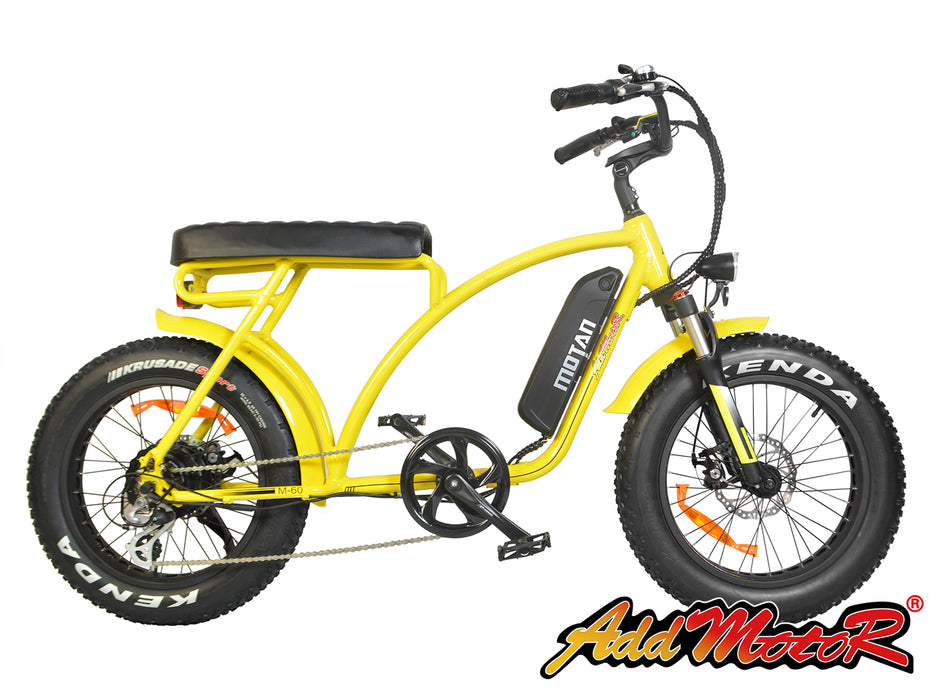 Addmotor Motan M60 Retro Cruiser eBike Yellow l Watt Fleet