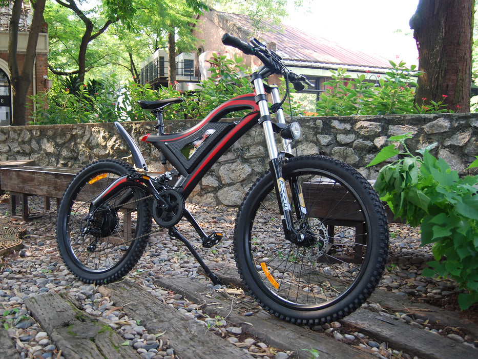 Addmotor HitHot H5 500W 48V 11.6AH 26-Inch Red Live Electric Mountain Bike l Watt Fleet