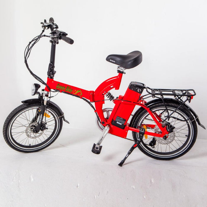 Green Bike USA GB5 350W Folding Full Suspension Red eBike l Watt Fleet