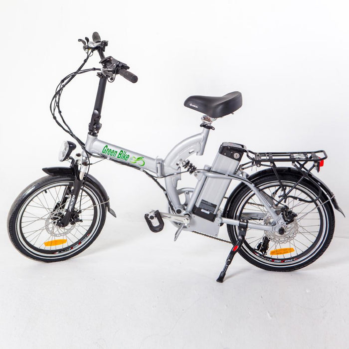 Green Bike USA GB5 350W Folding Full Suspension Silver eBike l Watt Fleet