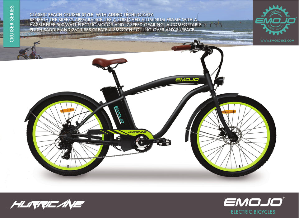 Emojo Hurricane Beach Cruiser eBike Description l Watt Fleet