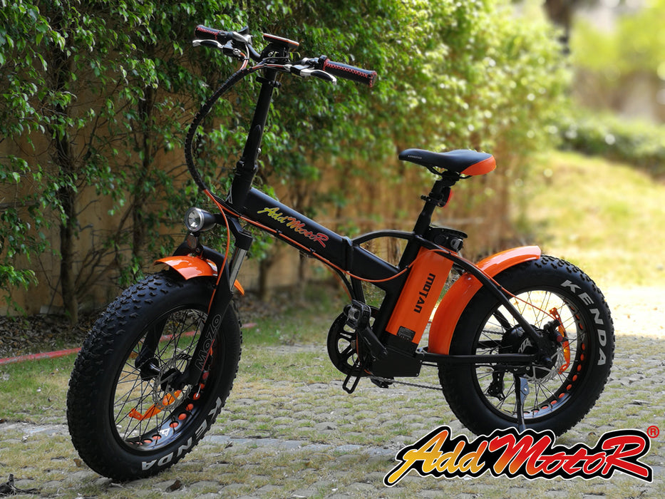 Addmotor Motan M150 P7 750W Folding Fat Tire Orange Live eBike l Watt Fleet