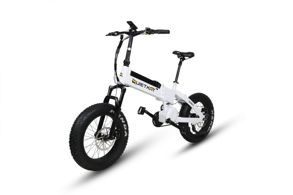 QuietKat Bandit Folding eBike White l Watt Fleet