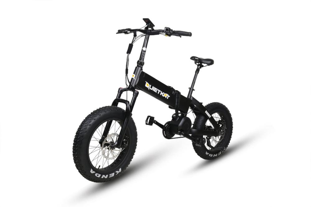 QuietKat Bandit Folding eBike Black l Watt Fleet