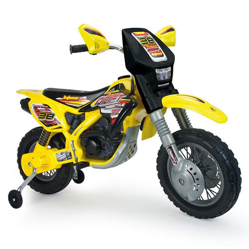 Injusa Drift ZX 12v Kids Dirt Bik Electric Ride-on Toy Yellow l Watt Fleet