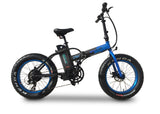 Emojo Lynx Folding Fat Tire eBike Blue l Watt Fleet