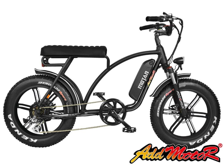 Addmotor Motan M60 R7 750W 48V Retro Cruiser eBike Black l Watt Fleet