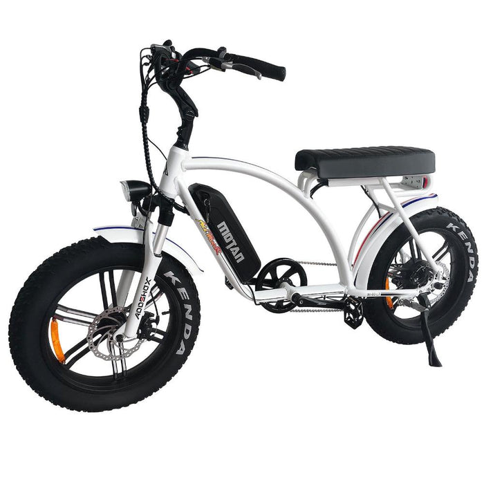 Addmotor Motan M60 R7 750W 48V Retro Cruiser eBike White l Watt Fleet