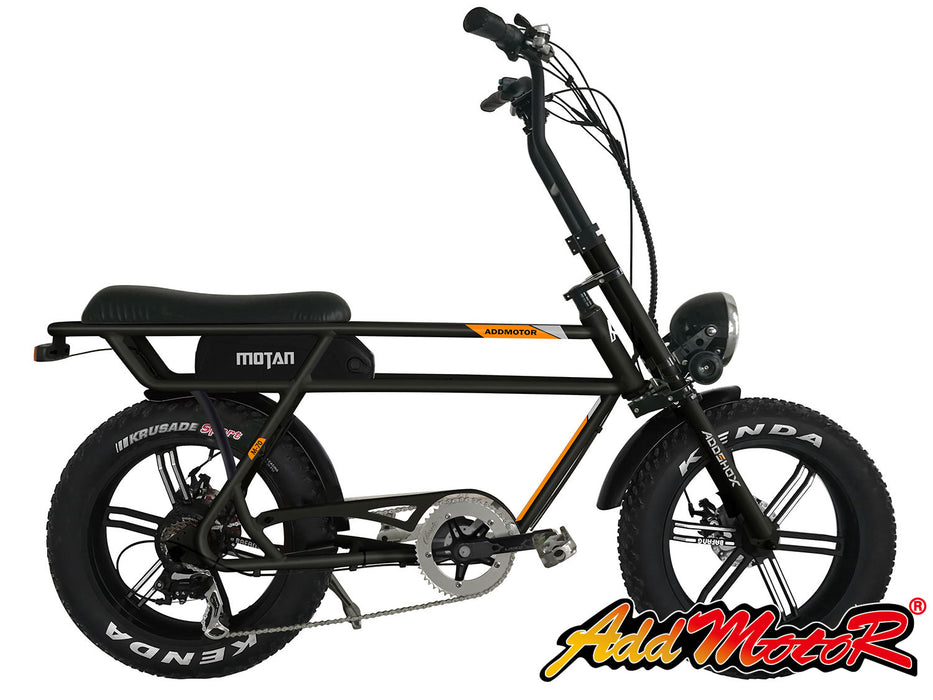 Addmotor Motan M70 Fat Tire 750W Retro Cruiser eBike Black l Watt Fleet