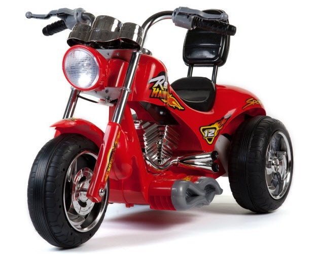 Mini Motos Red Hawk Motorcycle 12v Kids eRide-on Toy Red l Watt Fleet