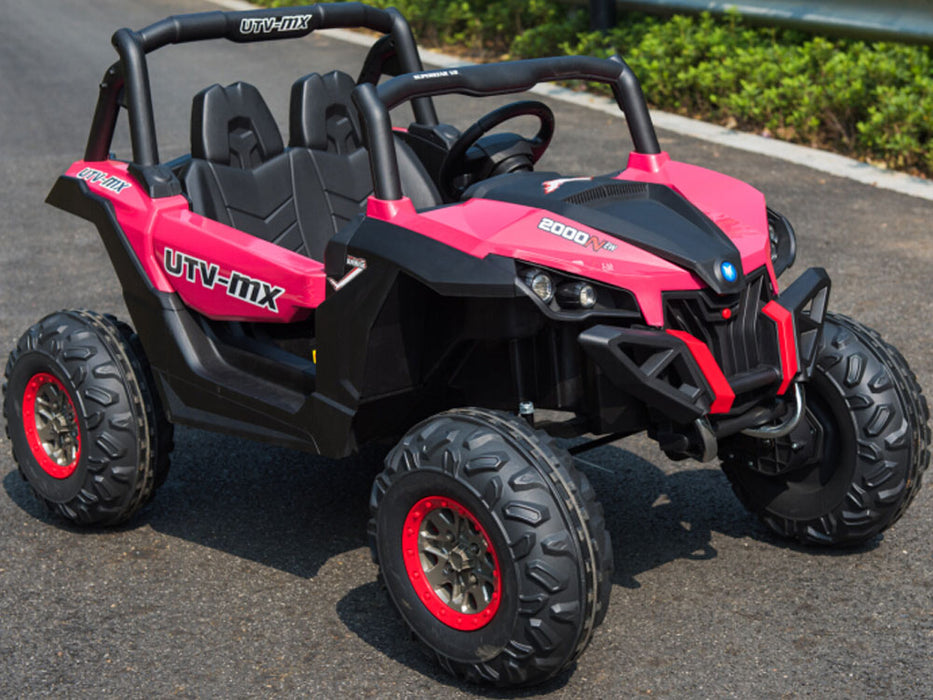 Mini Moto UTV 4x4 12v (2.4ghz RC) Pink l Watt Fleet